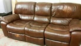 Leather Dual Recline Sofa