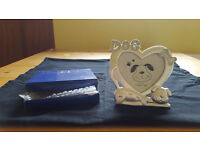 Silver and diamante dog photo frame, complete with box. Unwanted gift. £1.50
