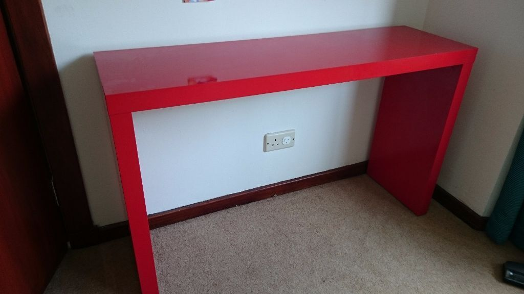 red ikea malm console table desk in bearsden glasgow gumtree. Black Bedroom Furniture Sets. Home Design Ideas