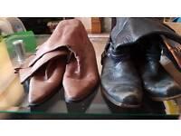 Job lot. Men's size 9 cowboy boots.