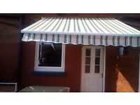 For sale we have a Manuel patio sun canopy