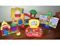 Toys Bundle Postman Pat first laptop, playskool tree house, storybook rhymes collection from LS10