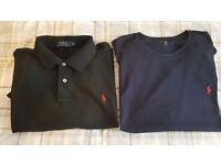 Ralph Lauren Polo Shirt/T-Shirt - Size XL - Black and Navy