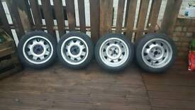 Set of genuine ats cups 4x100 7j with good tyres