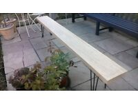 solid french oak bench hairpin legs 2.4m