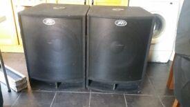 "Peavey 18"" Bass speakers"