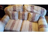 Single/Two/Three Seater sofa + foot stool.