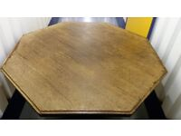 Antique Officers mess octagonal Oak dining/hall table