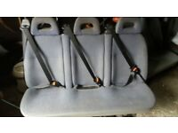 TRIPLE MINIBUS REAR SEAT WITH FACTORY SEATBELTS