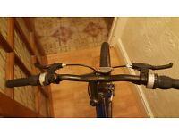 """17"""" Ladies hybrid blue apollo bike"""
