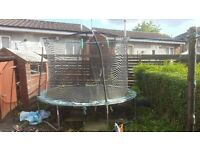 10ft enclosed trampoline