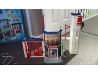 Playmobil Fire Station, Fire Engine and water pump