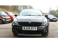 RENAULT CLIO DYNAMIQUE DCI 1.5 DIESEL 2009 3 DOOR H/BACK IN BLACK LOW MILES MOT AND WARRANTY