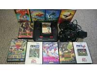 SEGA Mega Drive Console & 14 Games