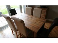 Next Dining Table with extensions, Chairs and Cabinet