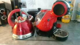 Dolce gusto coffee machine and stove kettle