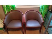4x Brown Chairs