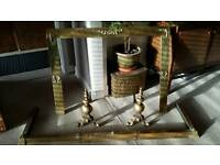 Vintage brass fire accessories