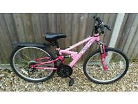 "Girls pink mountain bike (12.5"" frame)"