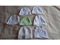7 Newborn baby unisex hats