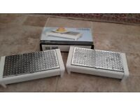Two Brabantia food warming trays for table top, little used