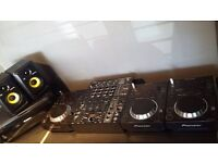 3 x Pioneer CDJ 350, Behringer 4 Channel DJX900 Mixer, KRK Rokit 4 Monitors - PERFECT CONDITION