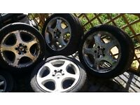 17 inch Mercedes alloys with tyres