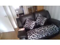 5 black and silver cushion covers