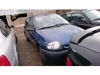 2001 RENAULT CLIO GRANDE, 1.5 DIESEL, BREAKING FOR PARTS ONLY, POSTAGE AVAILABLE NATIONWIDE
