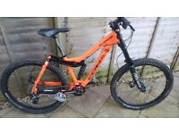 Kona stinky full suspension mountain bike
