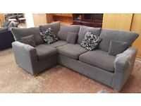 Modern grey corner sofa (4 and 3 seater)