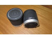 2 x Veho VSS-009-360BT M4 Portable Re-chargeable Wireless Bluetooth Speakers