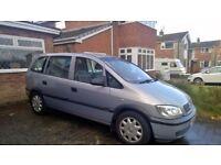 Vauxhall Zaflra 1.6 petrol MPV ,SEVEN SEATER 105 k