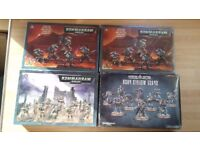 Warhammer 40k Grey Knights, Space Wolves and Imperial Guard. Unused in box.