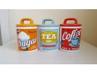Retro Inspired Kitchen Cannisters