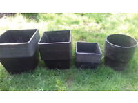 Large collection of aquatic plant baskets