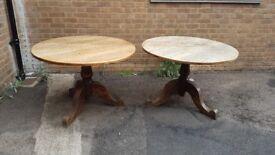 Pub circular tables X2 large