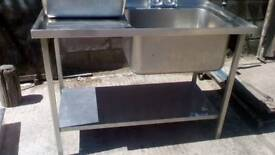 Commercial stainless sink