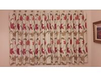 Hazelmere Terracotta fully lined curtains; 229x137cm (90in x 54in)
