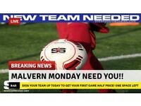 Malvern Monday night 6-A-SIDE