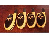 OUTSTANDING BARGAIN 4 binatone walkie takies bargain £19,99