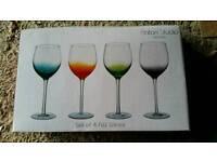 4 large wine glasses