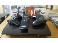 Sony PS3 (upgraded) with accessories and cool games
