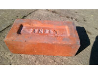2450 reclaimed imperial red 'SUNSET' bricks from a 1930's bungalow