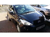 2012 Black Ford Ka 1.2 Studio 3dr mint condition retro dash only 29000 miles