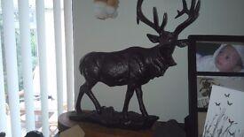 Solid bronze deer