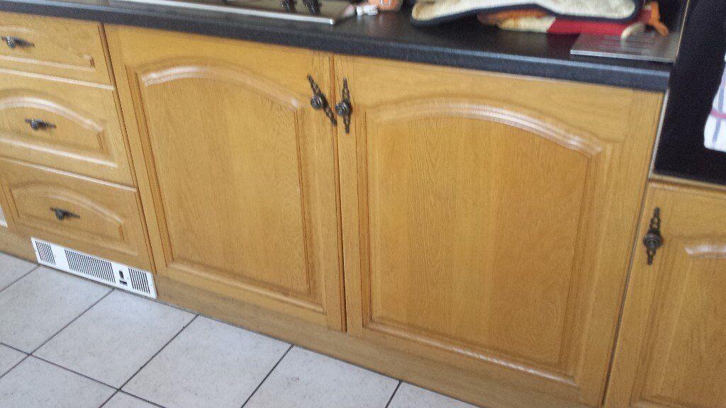 solid oak wood kitchen cupboard doors drawer fronts in nantwich