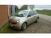 Nissan micra low milage 1.2 2003 lady owned short mot hence price