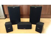 Sony surround sound 5 speakers set