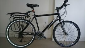 """Marin Muirwoods 19"""" hybrid commuter bicycle with rack"""